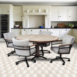 Chromcraft Metalcraft G&D Swivel Laminate Dinette Set
