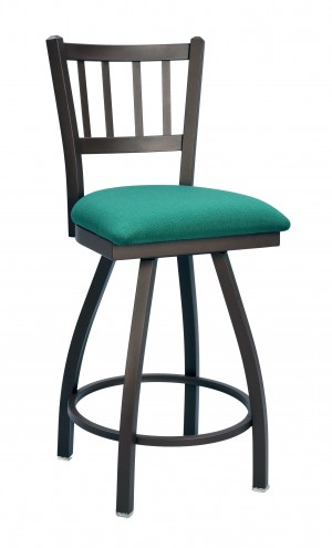 "Commercial Jailhouse Metal 24"" Swivel Bar Stool"