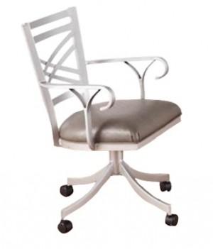 Callee Rebecca Swivel Tilt Caster Arm Dining Chair