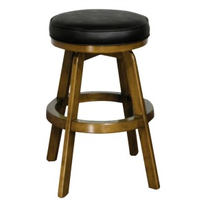 "IM David S3509 24"" or 26"" Backless Wood Swivel Bar Stool"