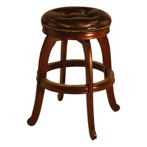 "IM David S5803 30"" Backless Wood Swivel Bar Stool"