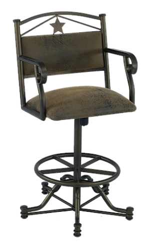 "Tempo Callee Texas 26"" Swivel Tilt Bar Stool"