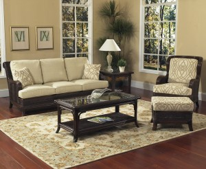 Classic Rattan Windsor 5PC Living Room Set