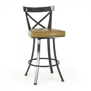 "Johnston Casuals Windsor X Back Swivel 26"" Bar Stool, 8529-26"