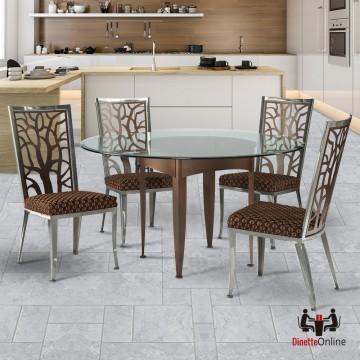 Johnston Casuals Luca Eden & Modurne Glass Top Dining Set