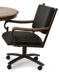 Chromcraft Metalcraft O&S Swivel Tilt Caster Arm Chair
