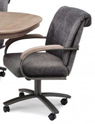 Chromcraft Metalcraft G&D Swivel Tilt Caster Arm Chair