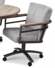 Chromcraft Metalcraft G&D Swivel Caster Dinette Chair