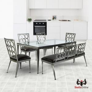 Johnston Casuals Rectangular Domino Dining Set
