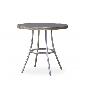 """Lloyd Flanders All Seasons 33"""" Round Bistro Table with Charcoal Glass"""