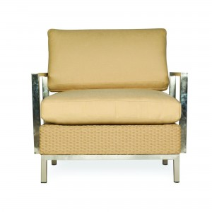 Lloyd Flanders Elements Lounge Chair Stainless