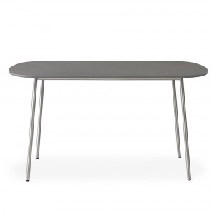"""Lloyd Flanders Elevation 42"""" Oval Cocktail Table w/Light Gray Corion Top"""