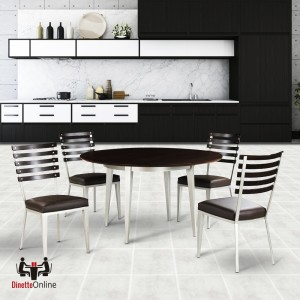 Johnston Casuals Maddox Metal & Wood Dining Set