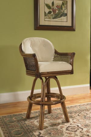 "Classic Rattan 3573L Lake House 24"" Counter Height Bar Stool"