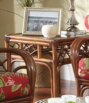 Classic Rattan Grand Isle End Table