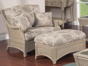 Classic Rattan Riviera Chair N Half with Ottoman N Half