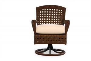 Lloyd Flanders Haven Swivel Rocker Dining Arm Chair