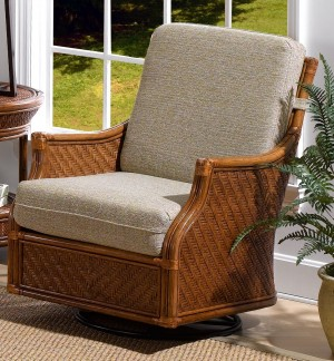 Classic Rattan Edgewater Swivel Glider Chair