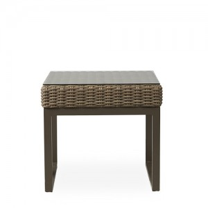 """Lloyd Flanders Milan 24"""" Square End Table w/Lay on Glass"""