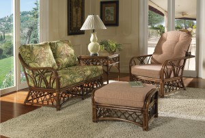 Classic Rattan Orchard Park 4PC Living Room Set