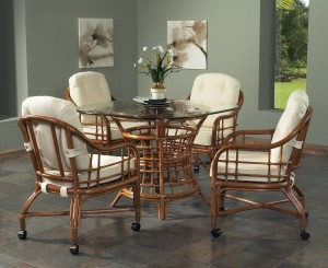 Classic Rattan Spring Lake Caster Dining Set