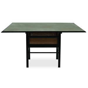 """Lloyd Flanders Southport 56"""" Square Dining Table w/Set in Glass"""