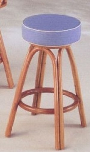 "Classic Rattan Keenan Point 24"" Backless Bar Stool"