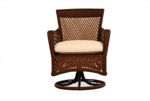 Lloyd Flanders Grand Traverse Swivel Dining Arm Chair