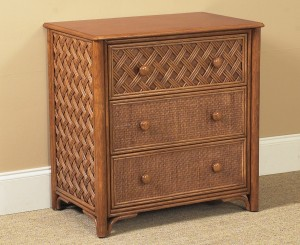 Classic Rattan Monte Carlo 3 Drawer Bachelor Chest