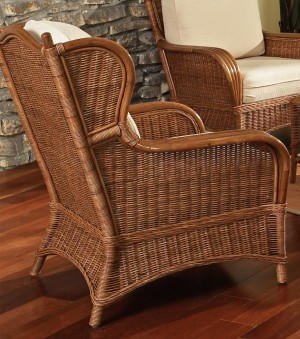 Classic Rattan Bodega Bay Hi Back Lounge Chair