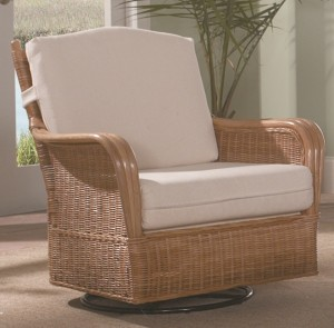 Classic Rattan Bodega Bay Swivel Glider Chair