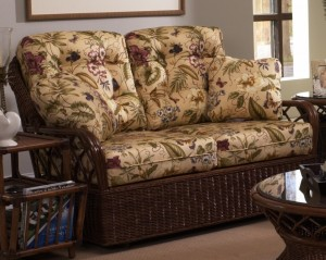 Classic Rattan Eastwind Loveseat Glider