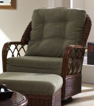 Classic Rattan Eastwind Swivel Glider Chair