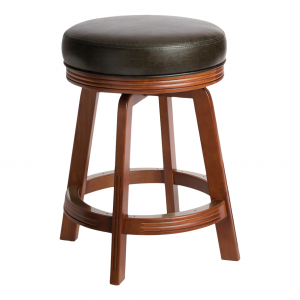 "Darafeev 938 Swivel 34"" Solid Maple Backless Bar Stool"