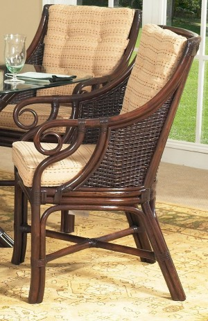 Classic Rattan Windsor Dining Arm Chair