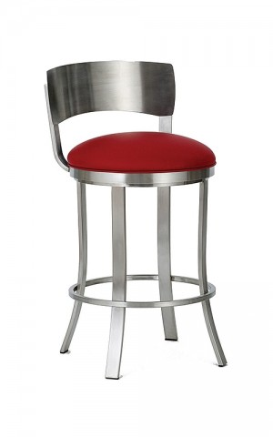 "Wesley Allen Baltimore 26"" Swivel Bar Stool Stainless Steel"