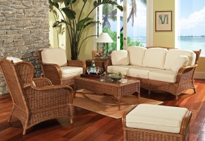Classic Rattan Bodega Bay 6PC Living Room Set
