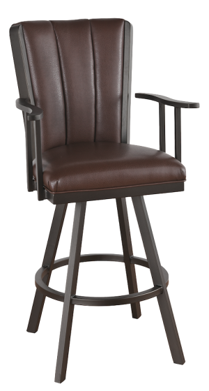 "Tempo Callee Bogart 26"" Flex Back Swivel Bar Stool"