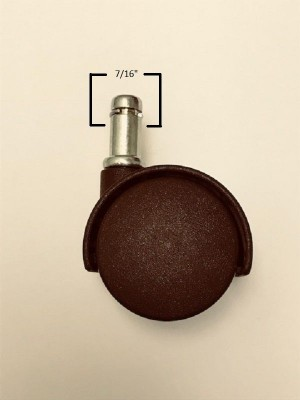 Chromcraft Chocolate Brown Casters set of 16