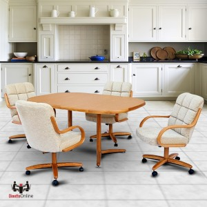 Chromcraft C117-936 and T324-456 Laminate Table Dinette Set
