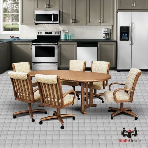 Chromcraft C177-946 and T817-77 Table 7PC Dinette Set