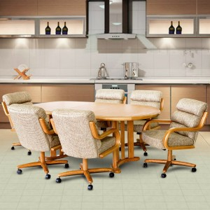 Chromcraft C137-946 and T817-77 Table 7PC Dinette Set