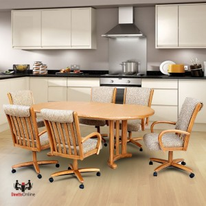 Chromcraft C177-936 and T817-85 Table 7PC Dinette Set