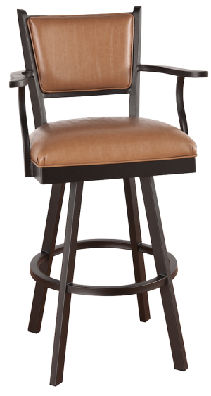 "Tempo Callee Carolina 26"" Swivel Bar Stool with Arms"