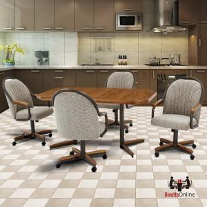 Douglas Furniture Hanna Swivel Tilt Caster Dinette Set