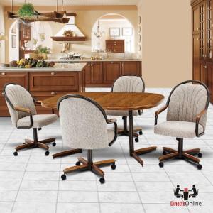 Douglas Furniture Jackson Swivel Tilt Caster Dinette Set