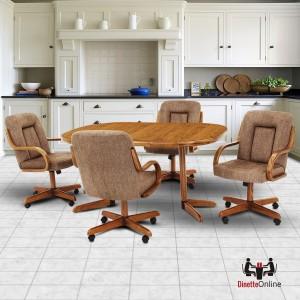 Douglas Furniture Lizzie 5 PC Caster Dining Set