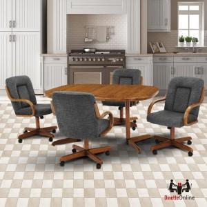 Douglas Furniture Liz 5 PC Caster Dining Set