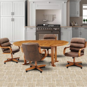 Douglas Furniture Patricia Swivel Tilt Roller Dinette Set