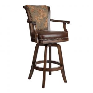 "Darafeev Classic 34"" Swivel Bar Stool Solid Maple Wood"